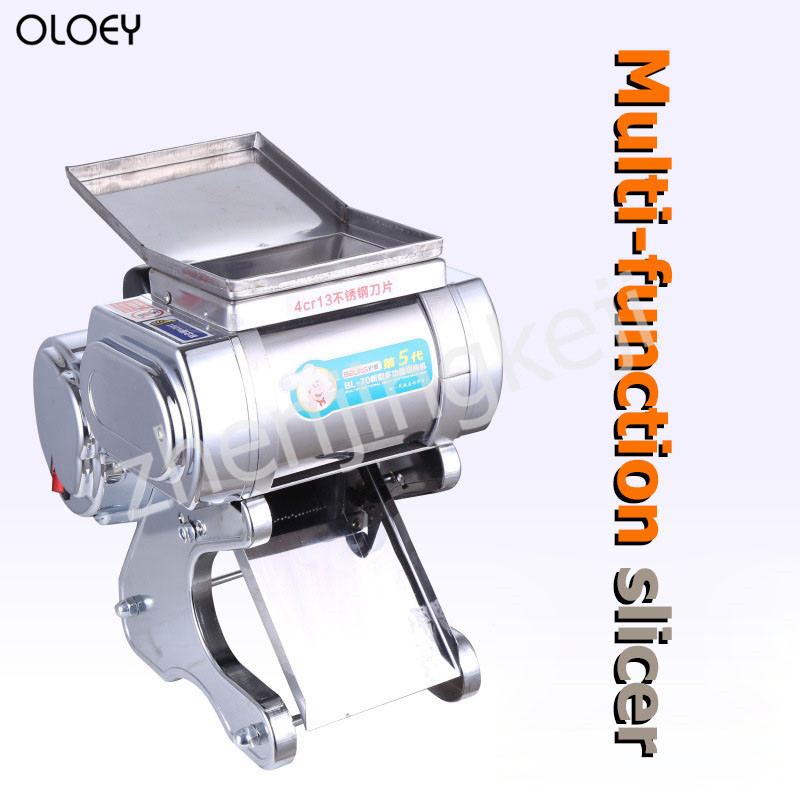 Commercial Electric Meat Slicer Stainless Steel Slicer Shredded Automatic Cutting Machine Twisted Meat Diced Meat Slicer