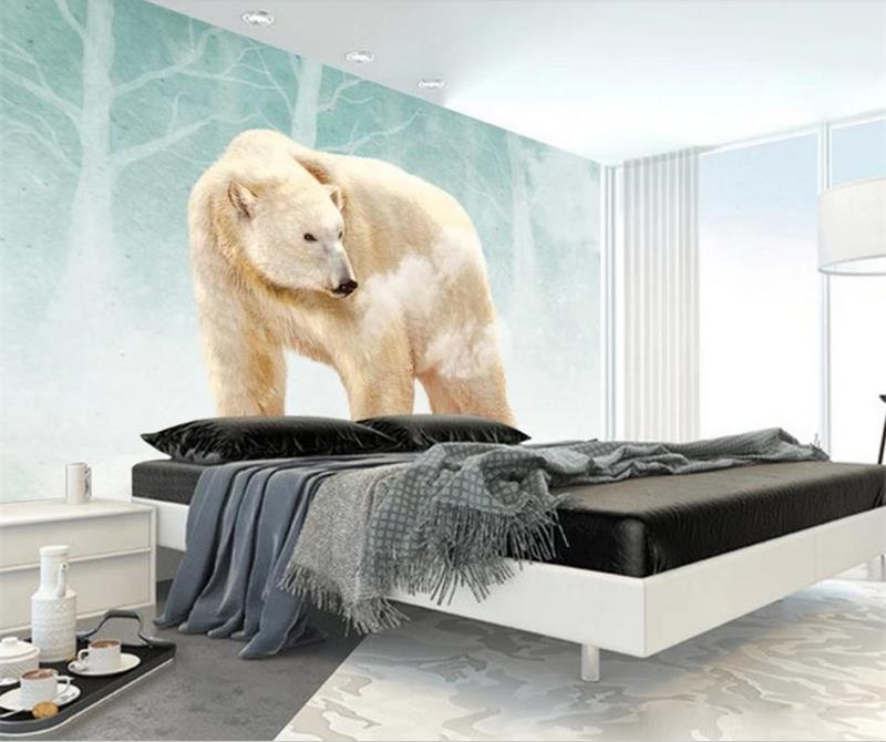 3d photo wallpaper custom size mural bed room living room lovely polar bear 3d picture sofa TV background wall non-woven sticker custom 3d photo wallpaper mural living room cartoon panda kids room picture painting sofa tv background non woven wall sticker