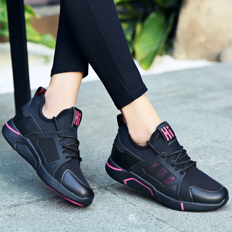 MWY Breathable Lace up Walking Shoes Outdoor Fitness Sports Deportivas De Mujer Athletic Jogging Women Sneakers