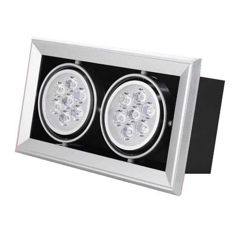 Квадратный Светодиодный точечный светильник 3 Вт 5 Вт 7 Вт 9 Вт 12 Вт светодиодный встраиваемый потолочный светильник лампа одинарная двойная/Тройная голова вниз светильник светодиодный Решетка точечный светильник