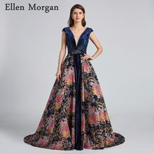 8eb18965ed Vintage Navy Blue Ball Gowns Evening Dresses 2019 Sale Robe De Soiree Lace  up Corset Cap Sleeve Celebrity Formal Party Gowns