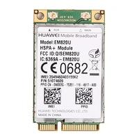 Разблокирована Huawei em820u WCDMA GSM Беспроводной 3G WWAN Mini pci-e карты hspa + 21 Мбит 3G модуль над em820w для ноутбук Тетрадь