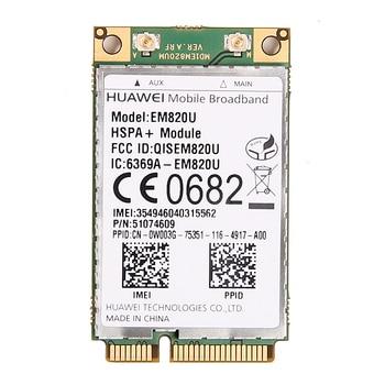 Desbloqueado HuaWei EM820U WCDMA GSM Sem Fio 3G Cartão WWAN Mini PCI-E Módulo HSPA + 21 Mbps 3G Sobre EM820w para Notebook Laptop