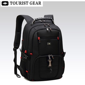Image 4 - Mochilas suíças dos homens bolsa de viagem negócios anti roubo mochila masculino usb de carregamento 15.6 17 polegada portátil mochila à prova dwaterproof água