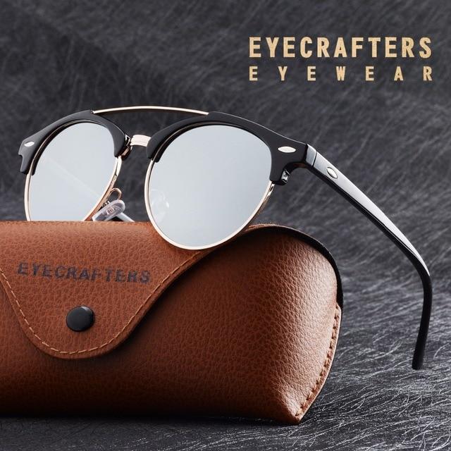 542c3ece3f De plata espejo Retro Vintage para hombre gafas de sol polarizadas marca  para mujeres Club de