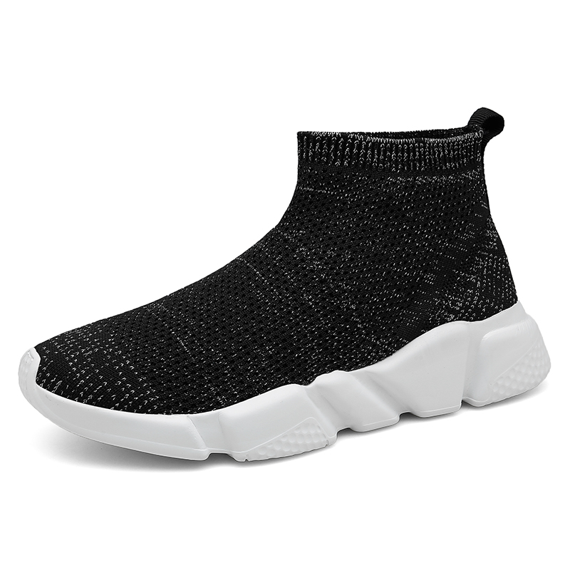 4d49b5fba33084 Noir bleu Femmes Appartements Feminino Sneakers Chaussures Respirant Casual  Panier Tenis Femme Sur Chaussure Chaussettes Slip ...