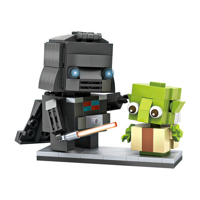 Star Wars DIY Mini Blocks Darth Vader Master Yoda Model Building Blocks