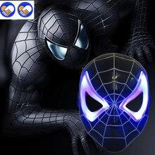 A Toy A Dream LED Glowing Superhero Halloween Light Childrenu0027s Cartoon Mask Spider  Man Toy Glow
