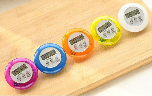 Minuterie daide à la cuisine numérique   100 pièces, nouveauté, horloge de cuisine numérique, Mini LCD numérique, compte à rebours, minuterie alarme SN973