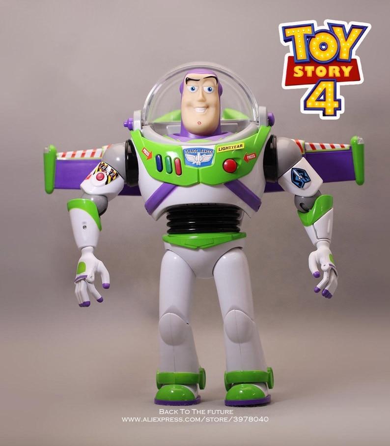 Disney Toy Story 4 Buzz Lightyear Talking figure 30cm PVC Action Figures mini Dolls Kids Toy
