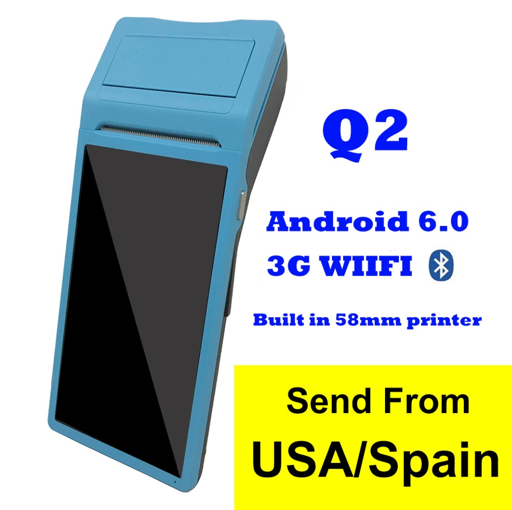 Q1 POS SystemTerminal PDA with Thermal Printer Built in and Barcode Scanner NFC Option