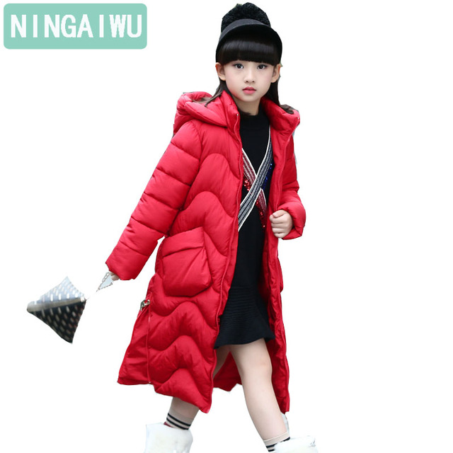 Best Offers 2018 Winter Girls' Long Cotton-Padded Jacket For kids Princess Style Thickened Extended Children Warm Cotton-Padded Outerwear 6T