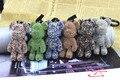 Полный Горный Хрусталь Кристалл металла брелок творческий 2017 новая кровь медведь брелок кошелек сумка рюкзак кулон 8 Цветов
