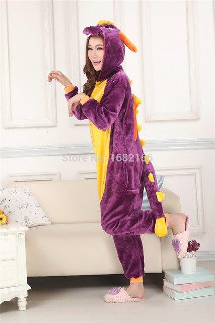 Kigurumi nuevo púrpura Unisex Spyro de dragón dinosaurio pijama adulto  Animal Cosplay traje pijama lindo 41faf3d8b161