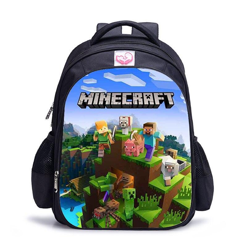 MineCraft Cartoon Backpack Boys Cartoon School Bags Hot Primary Backpack School Bags For Boys Mochila Sac A Dos
