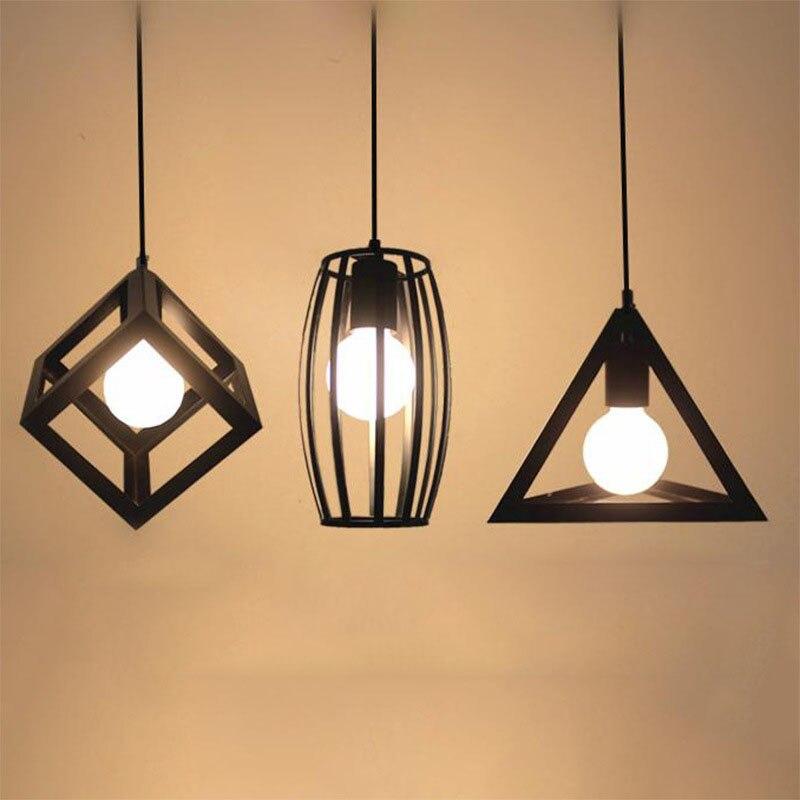 Vintage Industrielle Rétro Pendentif Lampe Edison Lumière E27 Titulaire Fer Restaurant Comptoir de Bar Grenier Librairie Cage Lampe