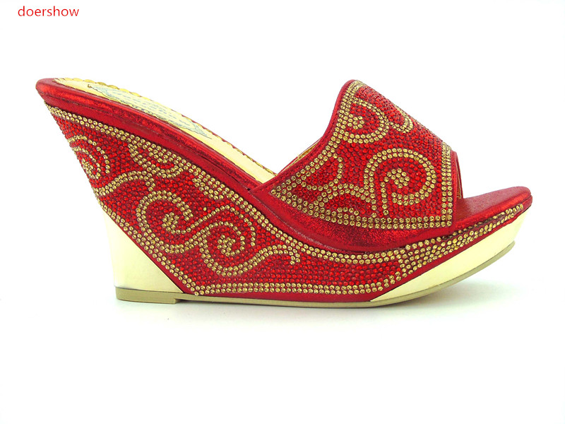Italie Noir Dames Décoré Chaussure Chaussures Pour Correspondant Doershow Ensemble rouge Haute 5 Strass Mariage Qualité lavande Partie Et Le Avec De Sac Dk1 q4OwxS4R