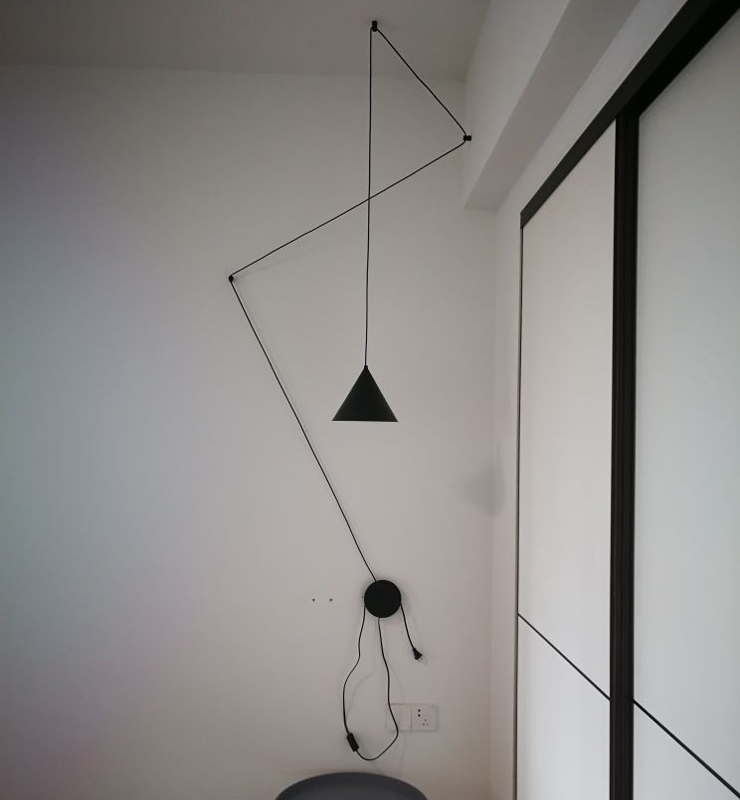 Nordic Modern Design LED DIY pendant lamp light cords metal Lampshade AC90 260v lighting fixtures bar
