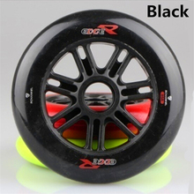 2 Pcs/lot 85A 125mm Black Inline Speed Skates Wheel and Scooter Wheel, Good Elasticity and Grip using 608 Bearing