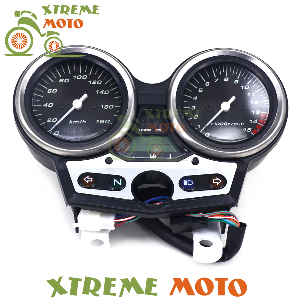 цена на Motorcycle Tachometer Odometer Instrument Speedometer Gauge Cluster Meter For Honda CB400 CB 400 VTEC I 1999 2000 2001