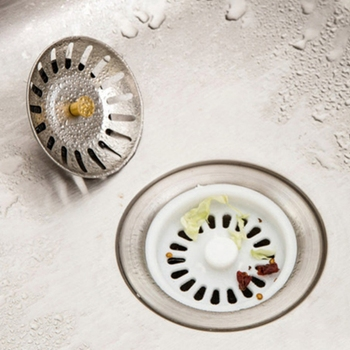 HNGCHOIGE High Quality Stainless Steel Kitchen sink Strainer Stopper Waste Plug Sink Filter filtre lavabo bathroom hair catcher Kitchen Fixtures