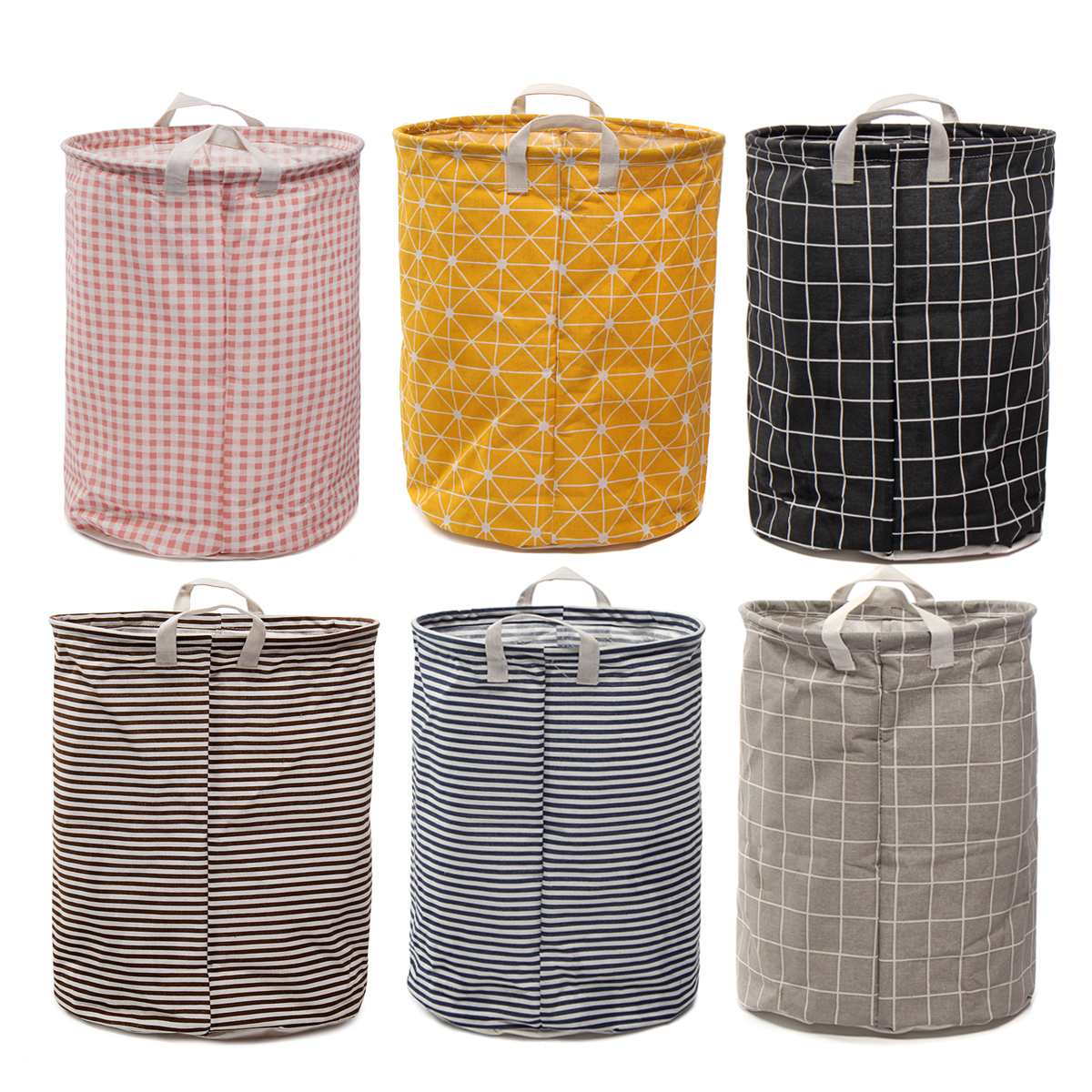 Canvas Hamper Bags Canvas Storage Foldable Cotton Linen Clothes Laundry