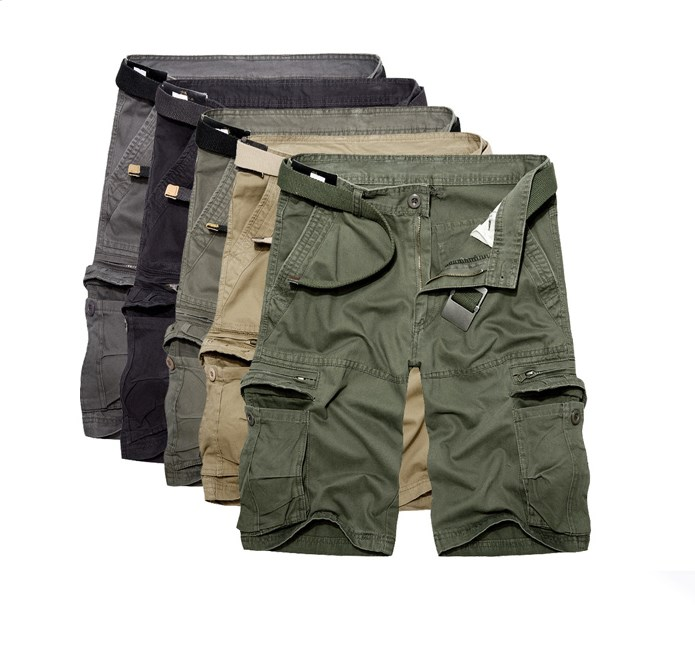 Summer Mens knee Length Cotton Army Cargo   Shorts   2019 Men Casual   Shorts   multi-pocket loose   shorts   Bermuda Trousers
