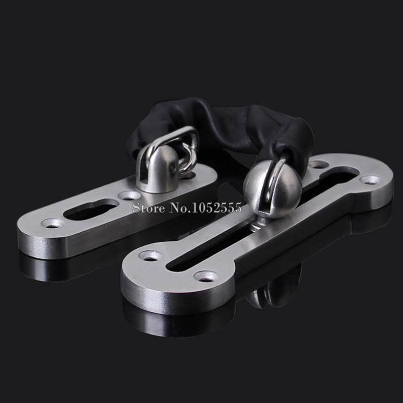 5PCS/lot Stainless Steel Door Chain Lock Security Anti-theft Chain Gate Door Safety Guard Bolt Lock For Home Hotel rs 01 multifunctional safety bendy door drawers lock for kids white transparent 2pcs