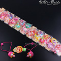 30pcs Fashion Hair Accessories Elastic Hair Bands And Hairpins Grip for Candy Baby Girl Kids Headbands Hair Ropes Head Wear