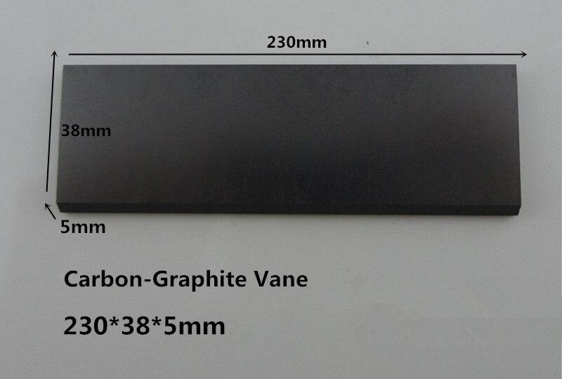 230*38*5mm  EK60 carbon graphite vane for vacuum pumps Heidelberg  DVT100 gas pump 6 48 230 mm carbon vane for vacuum pump graphite plate block for vacuum pump becker
