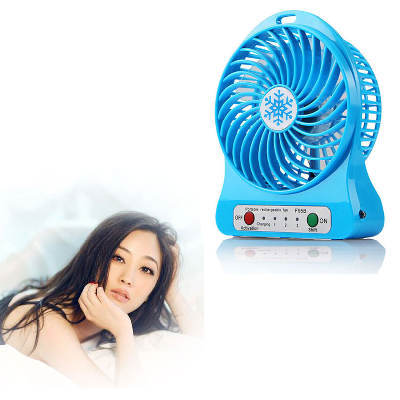 USB Mini Fan Portable Electric Fans LED Portable Rechargeable Desktop Fan Cooling air conditioner portable fan has no battery portable 8 pin air fan