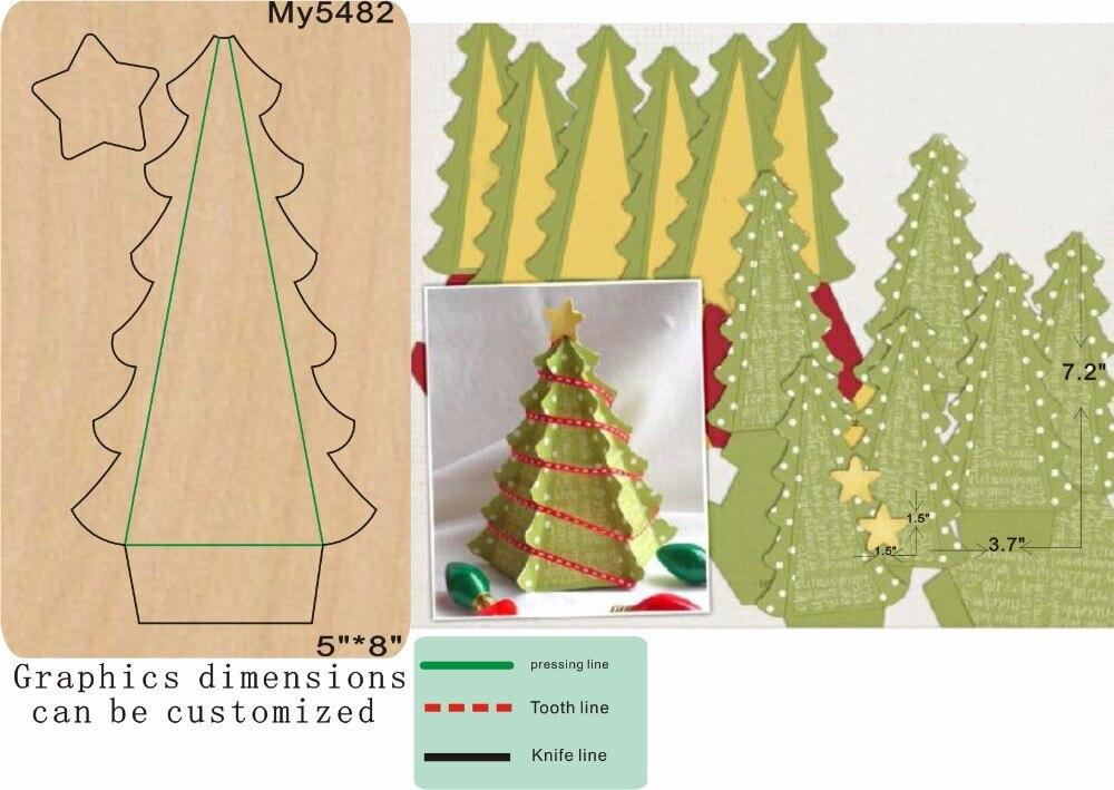 christmas tree decoration wooden die cut accessories wooden die Regola Acciaio Die Misura my