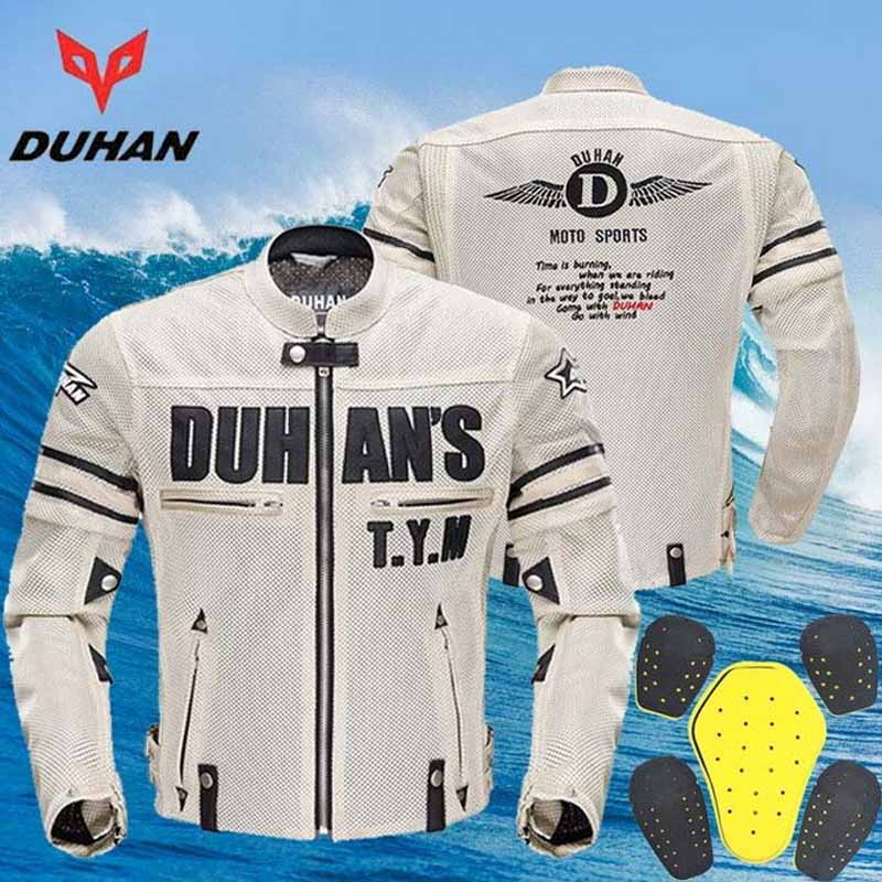 2017 Summer New Breathable Mesh DUHAN motorcycle riding jacket motorbike Cycling clothing chaqueta moto dress black beige Gray top good motorcycles mesh fabric jacket summer wear breathable hard protective overalls motorcycle clothing wy f607 green