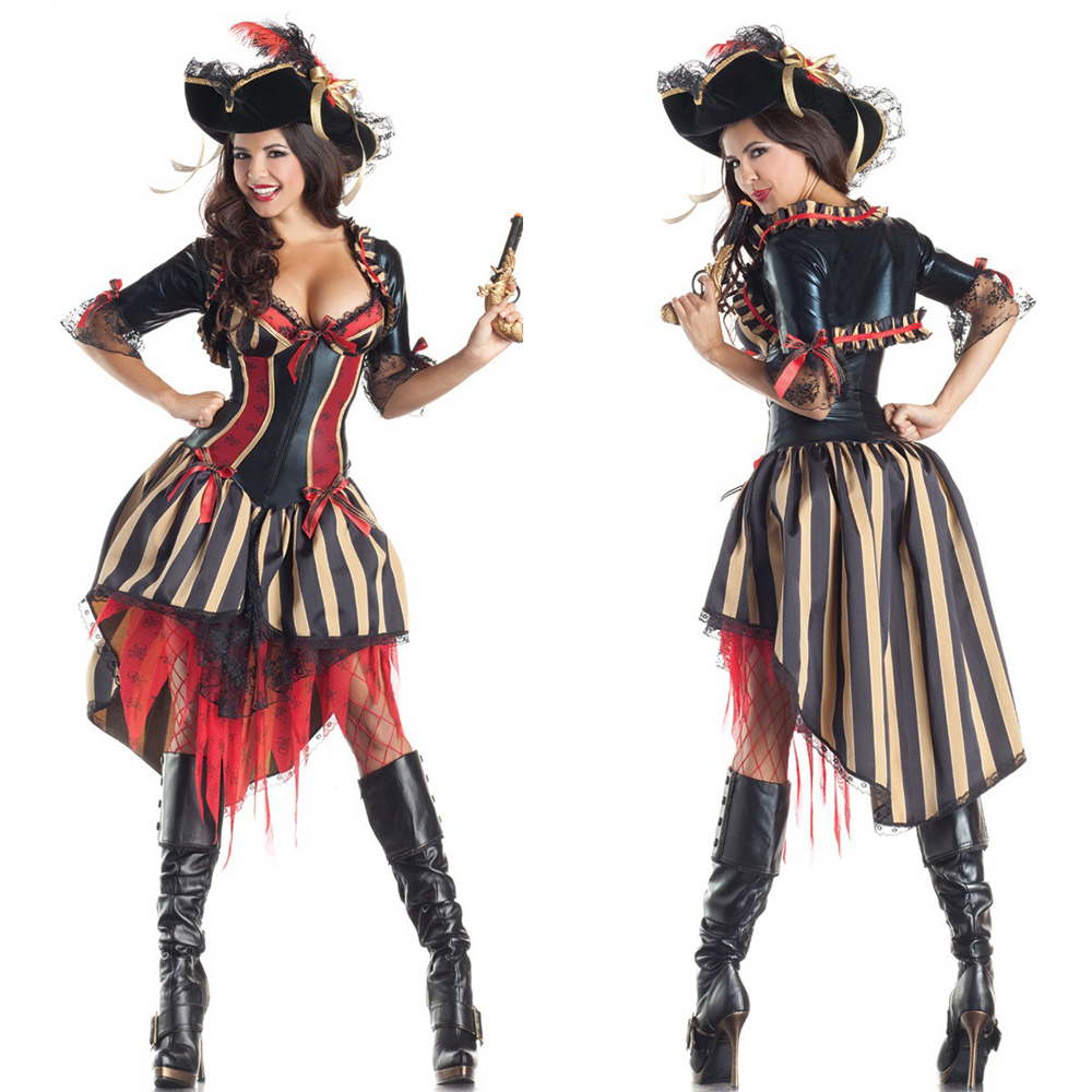 New Pirates of The Caribbean Cosplay Dress Halloween Female Pirate Costume Party Costumes DS Uniforms Adult Cosplay