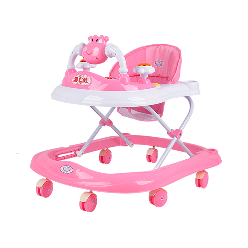 New 6-18Months Baby Foldable Walker Sit-to-Stand Walker Early Educational Kids Toddler Trolley Baby Balance First Steps Car