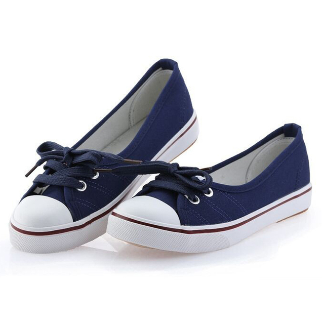 7 Colors Spring Summer Casual Women's Canvas Shoes Woman Flat Shoes Breathable Ballet Flat Heel Soft Sole Daily Shoes For Women