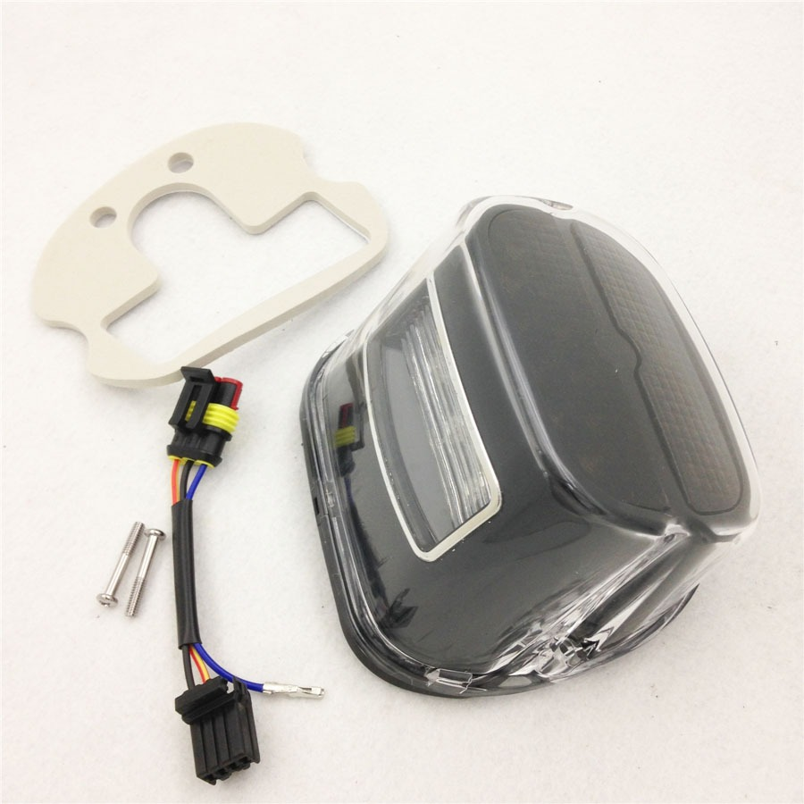 Aftermarket free shipping motorcycle parts Tail Brake Light For Harley Dyna Sportster 1200 XL1200 883 XL883 clear lens aftermarket free shipping motorcycle parts led tail brake light turn signals for yamaha 2004 2009 fz6 fazer 600 clear