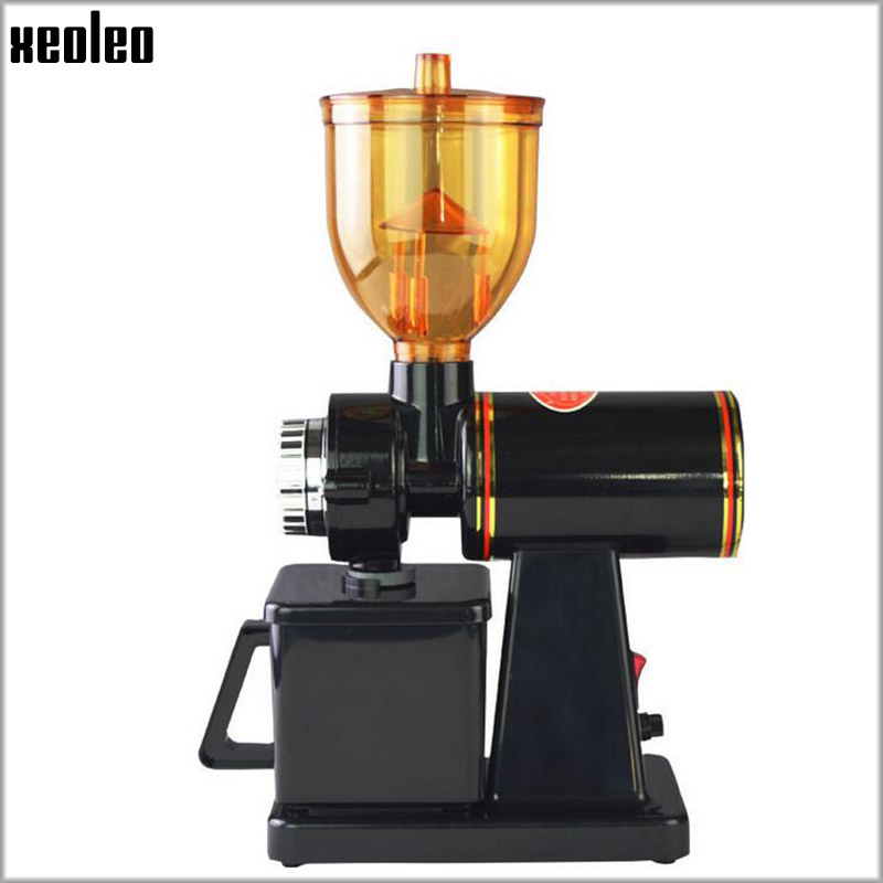 Xeoleo Electric Coffee grinder 250g Coffee Bean grinder Coffee mill machine Black/Red Anti-jump Flat Wheel Grinding machine burr grinder coffee bean miller electric 220v electric coffee grinder coffee grinding machine powder mill