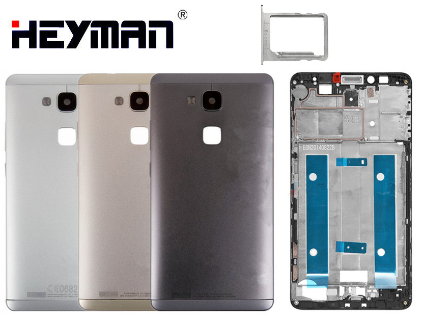 Carcasa para Huawei Ascend Mate 7 MT7-L09, pantalla de JAZZ-L09, Marco Frontal Medio, carcasa con bisel, carcasa trasera