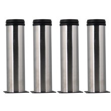4pcs Adjustable Furniture Legs Thicken Stainless Steel 50x200mm Table Bed Sofa Cabinet feet foot legs With mounting screws