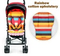 2014 New baby stroller Seat Cushion Cotton stripe baby car waterproof pad stroller accessories Pram Rainbow cotton thick mat