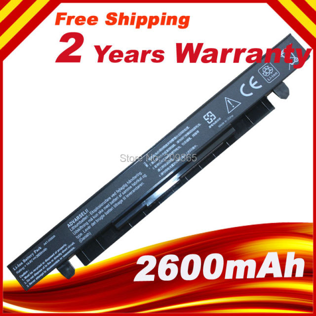 2600mAh Laptop Battery For Asus X550C X550A X550CA A41-X550 A41-X550A X550