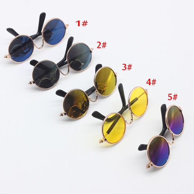 bc7f4e3b3 1 قطع إكسسوارات دمي جولة على شكل نظارات دائرية الملونة نظارات النظارات  الشمسية مناسبة ل bjd