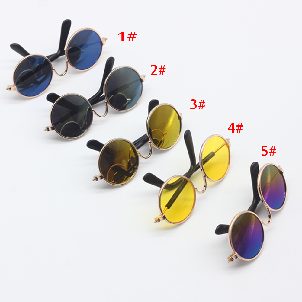 1PCS Doll Accessories round shaped Round glasses colorful glasses font b sunglasses b font suitable for