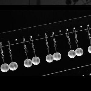 Image 5 - 아크릴 귀걸이 귀 스 터 드 목걸이 쥬얼리 디스플레이 랙 스탠드 주최자 보석 귀걸이 홀더 23*24cm