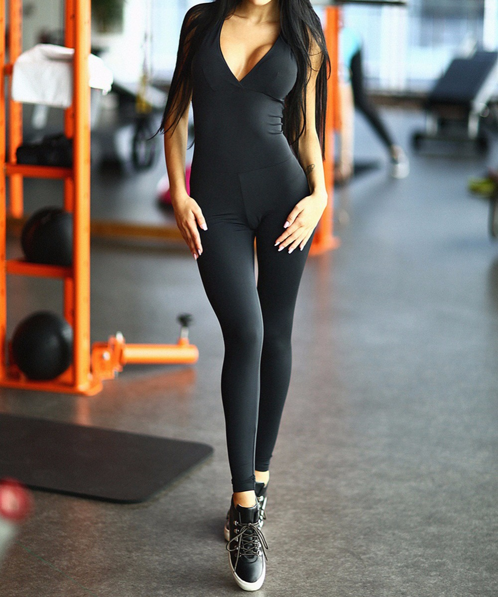 Bonjean 2017 One Piece Sexy Women Gym Fitness Clothing -1366
