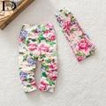 HABA bebê Moda menina legging, calças florais miúdos, crianças botas calças, atacado varejo, baby mel HB0353
