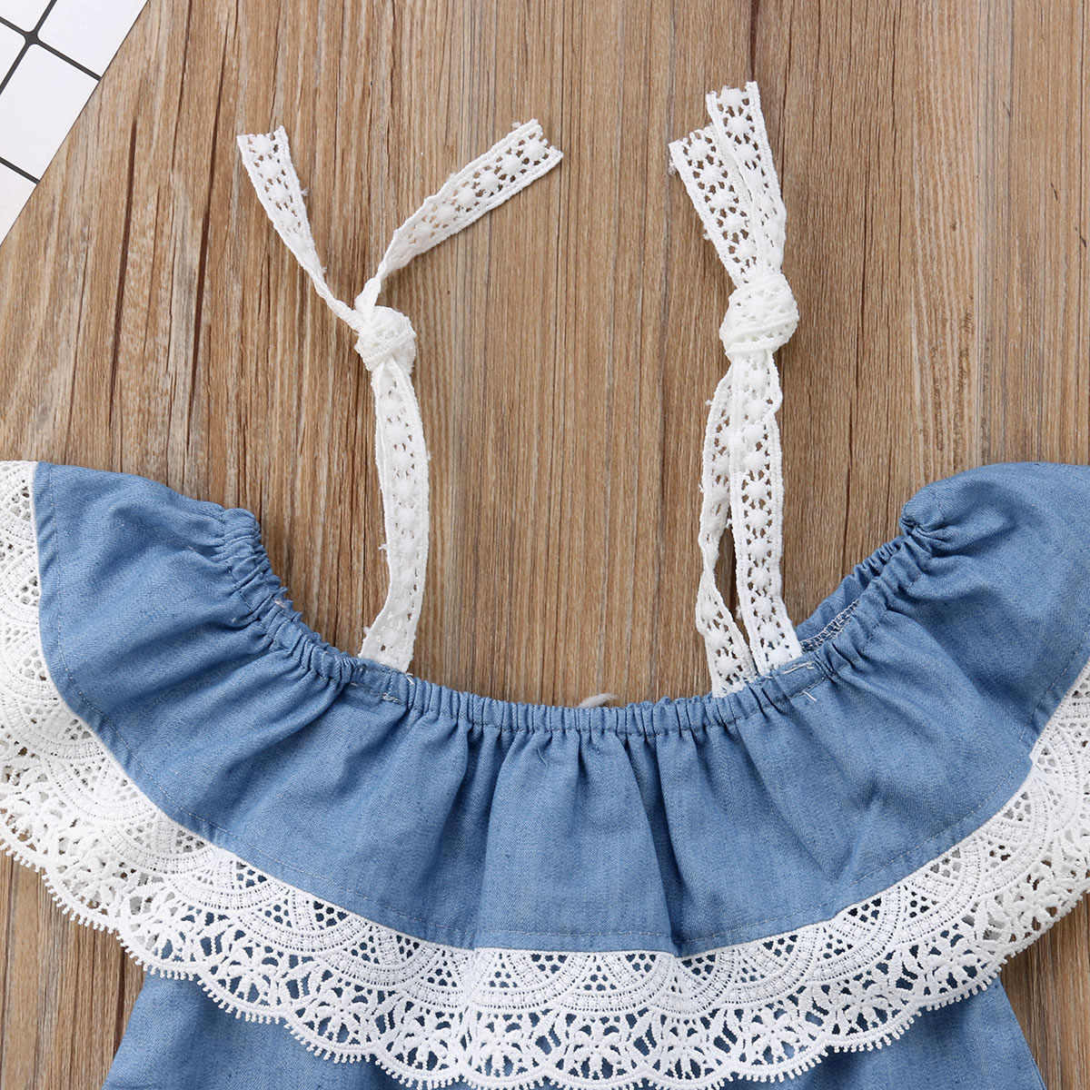1-6Y Kid Baby Girl Lace Strap T-shirt Top+Pants Shorts Summer Casual Outfit Sunsuit Clothes Set