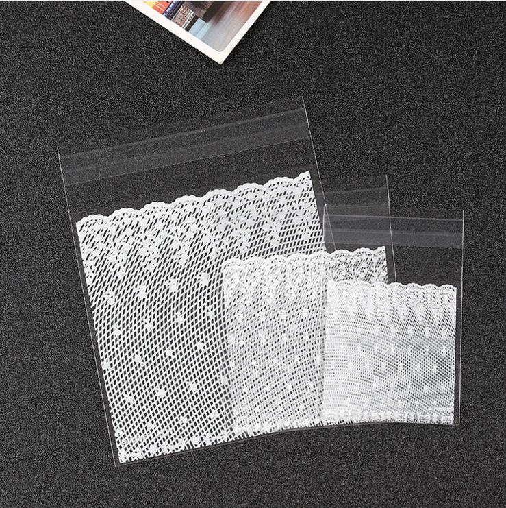 3 Sizes 100pcs/lot White Lace Wedding Candy Bags Cookie Biscuit Bag Cookie Decorating Tools
