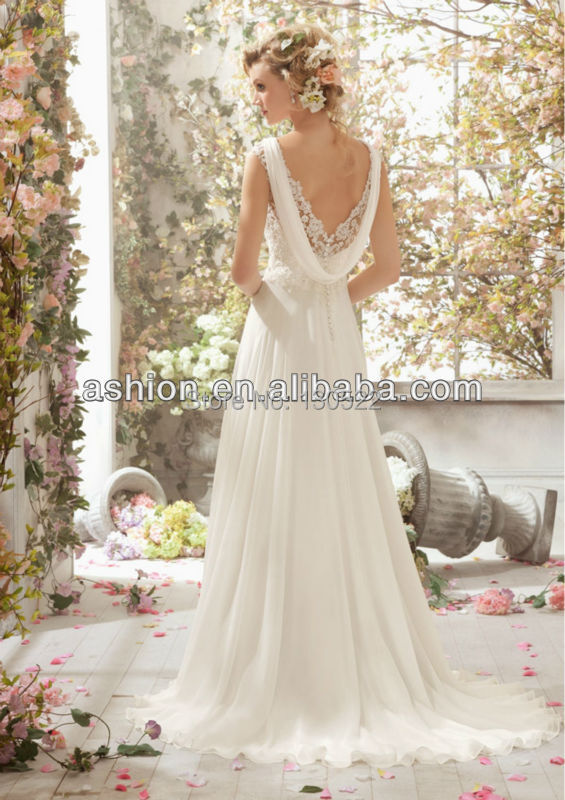 Casual and Flowing Wedding Dresses
